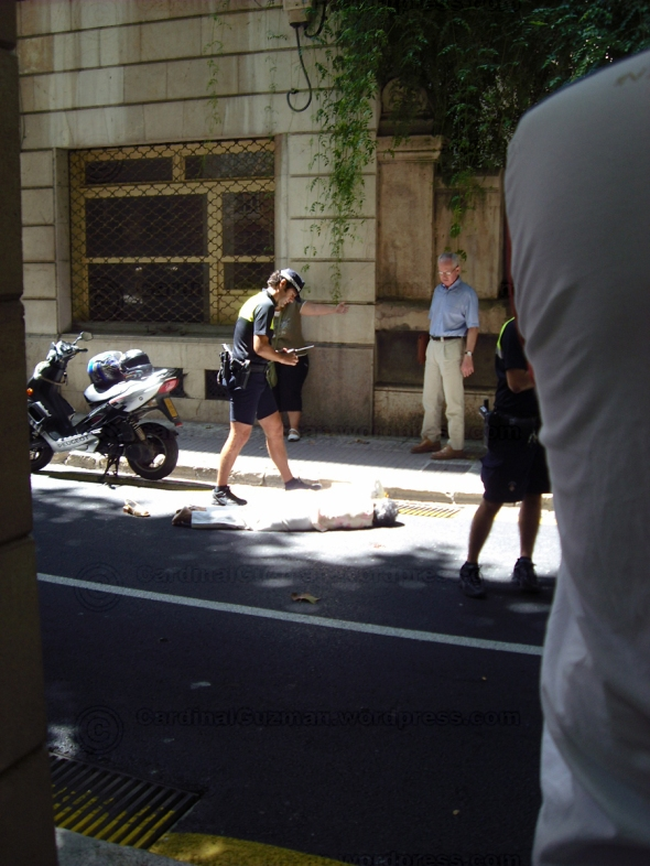 Woman hit by scooter at Mallorca in 2010.