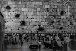 Morning prayers at the Western Wall, Jerusalem.