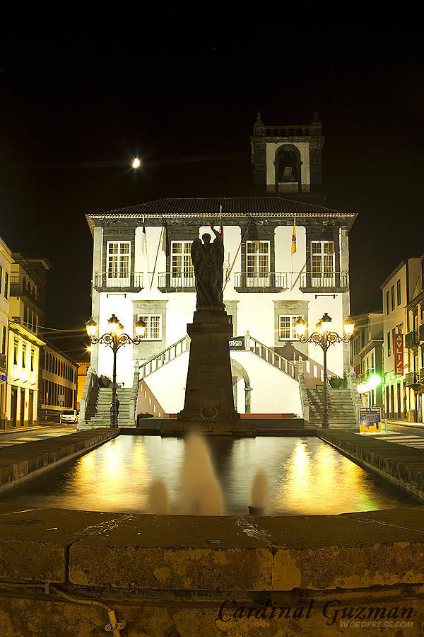 Azorean Islands; Açores; São Miguel; fountain; long exposure; nightscape; Portugal