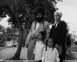 I met this lovely Jewish family in Jerusalem.