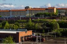 Trains in Gamlebyen, Oslo.