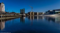 A panoramic shot of Bjørvika (shot in portrait position).