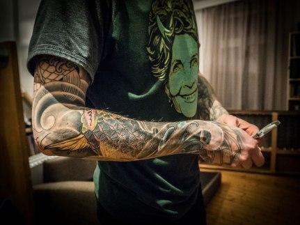 Inked arm