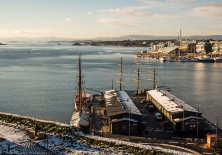 Aker Brygge seen from Akershus Fortress